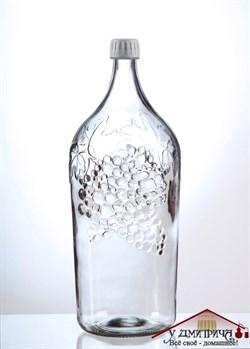 """Бутылка стеклянная Винная """"Виноград"""", 2,0 л - фото 10250"""