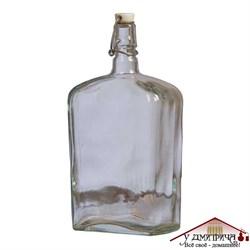 """Бутылка стеклянная """"Викинг"""" с бугельной керамической пробкой 1, 75 литра - фото 10256"""