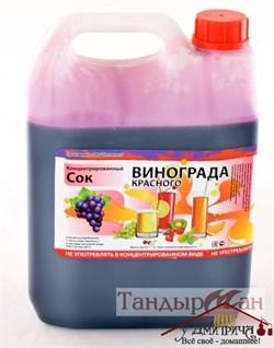 Сок концентрированный виноградный красный - фото 11194