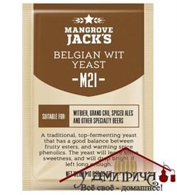 дрожжи Mangrove Jack's Belgian Wit M21, 10 г - фото 11637