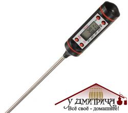 Электронный термометр со щупом в тубусе - фото 11662