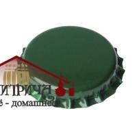 Кронен-пробки для пивных бутылок O 26 мм (зеленые) 80 шт. - фото 11988