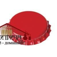 Кронен-пробки для пивных бутылок O 26 мм (красные) 80 шт. - фото 11989