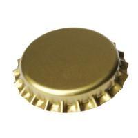 Кронен-пробки для пивных бутылок O 26 мм (золотые) 50 шт. - фото 5130