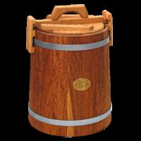Кадка дубовая 15 л «Бонпос» (обручи из оцинков. стали) - фото 5352