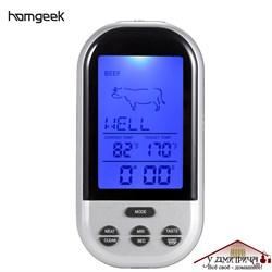 Термометр электронный беспроводной с сигнализацией по температуре - фото 9384