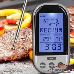 Термометр электронный беспроводной с сигнализацией по температуре - фото 9385