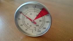 Термометр биметаллический красный сектор - фото 9391
