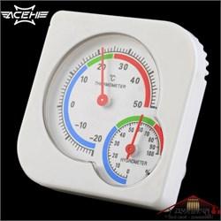 Термометр гигрометр стрелочный белый - фото 9878