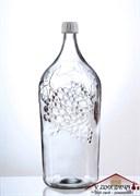 """Бутылка стеклянная Винная """"Виноград"""", 2,0 л"""