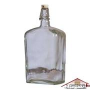 """Бутылка стеклянная """"Викинг"""" с бугельной керамической пробкой 1, 75 литра"""