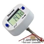 Электронный термометр со щупом белый поворотный