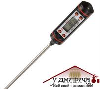 Электронный термометр со щупом в тубусе