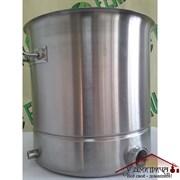 Котел 21 литр тройное дно, с зиговкой, толщина стенки 1 мм, без крышки