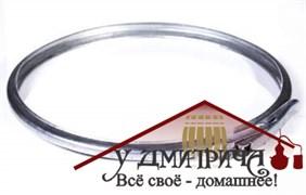 Обруч обжимной стальной на бак 21 л, толщина 1 мм, регулируемый замок, диаметр 325 мм
