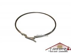Обруч обжимной стальной на бак 37 л, толщина 1 мм, регулируемый замок, диаметр 385 мм