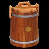 Кадка дубовая 15 л «Бонпос» (обручи из оцинков. стали)