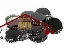 Кронен-пробки для пивных бутылок O 26 мм (черные) 50 шт