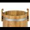 Кадка дубовая 10 л «Бонпос» (обручи из нерж. стали) - фото 5351